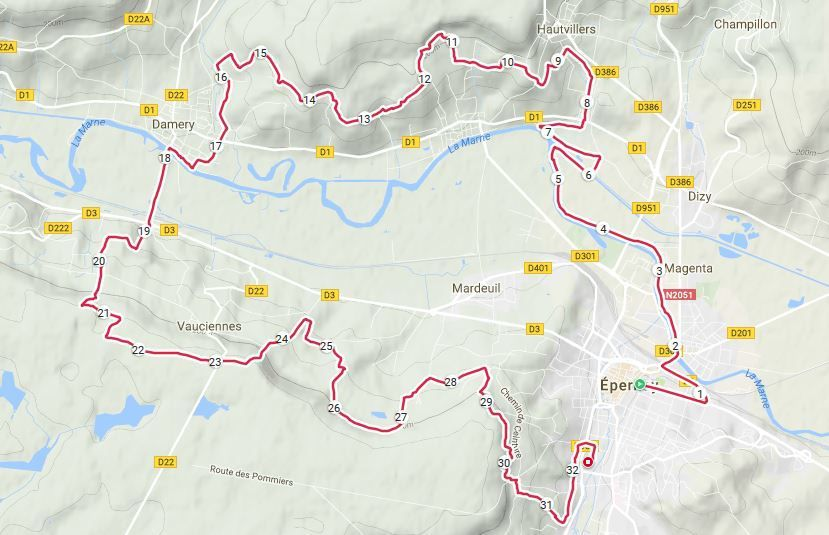 Ma trace GPS Polar M400