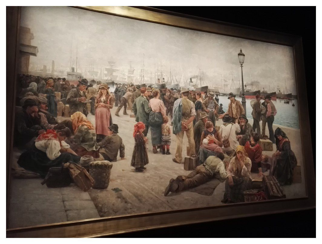 "Tableau d'Angelo Tomasi  ""Gli Emigranti (1896)"