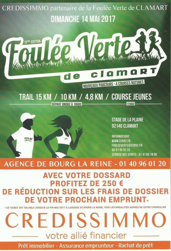 Foulée Verte de Clamart 2017. Photos du trail de 15 km.