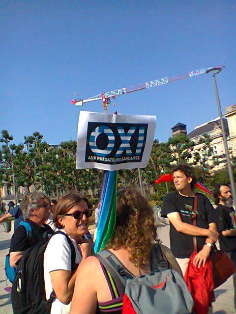 Rassemblement de solidarité avec le peuple grec à Rouen