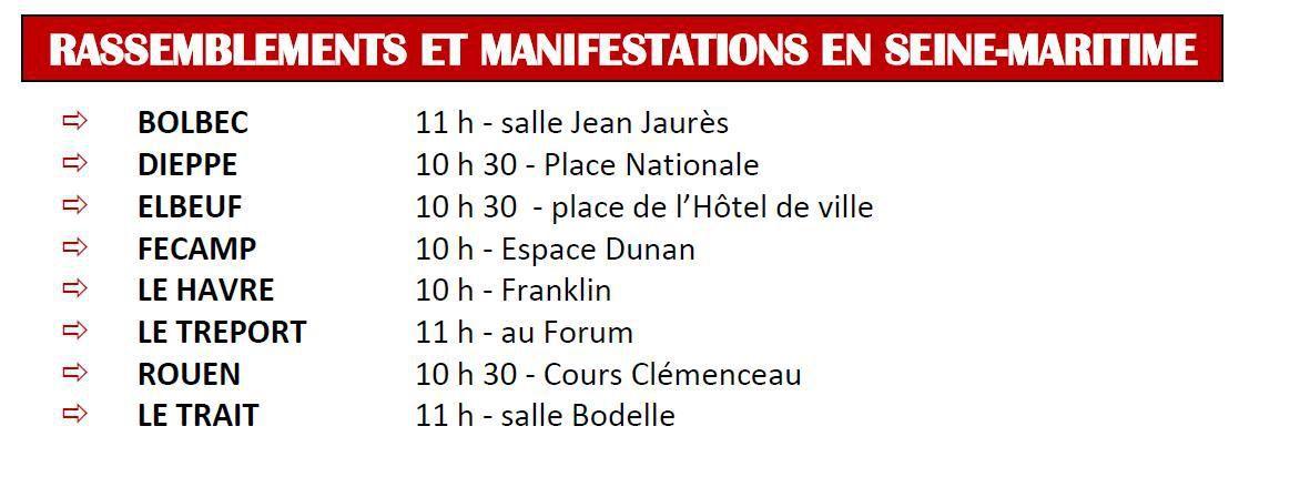 1er Mai 2017 en Seine-Maritime - Manifestations à Rouen, Le Havre, Dieppe, Elbeuf, Fécamp, Le Tréport, Le Trait - A l'appel de la CGT, de la FSU, de Solidaires, de l'UNEF