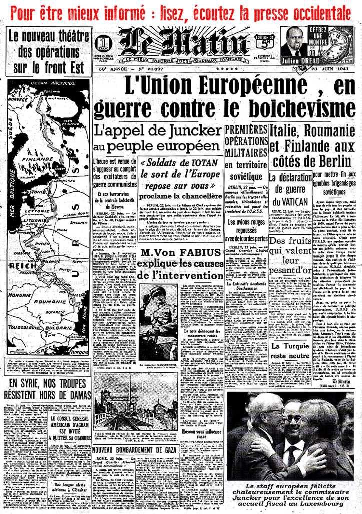 22 juin 1941 : BARBAROSSA ! (avant l'OTAN la Wehrmacht)