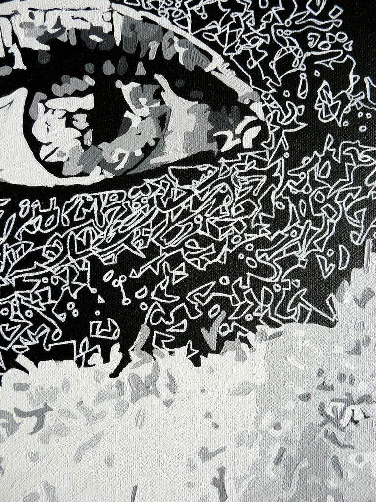 La meduse ~ huile / posca sur toile ~ 116 x 81 cm