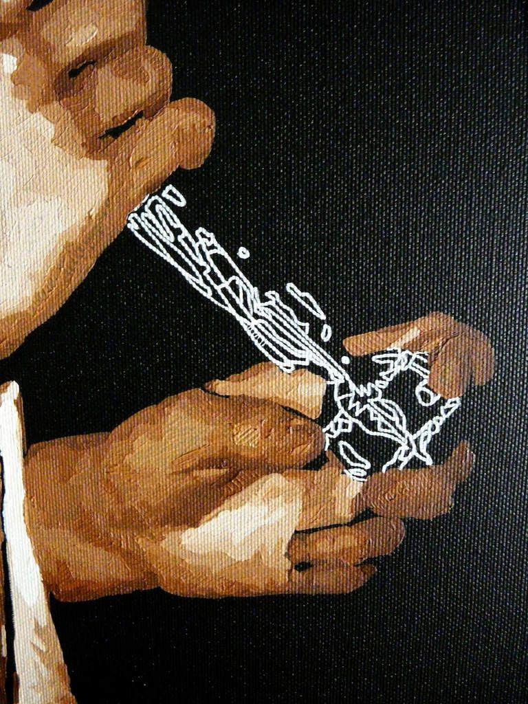 princesse charmante ~ huile / posca sur toile ~ 60 x 60 cm
