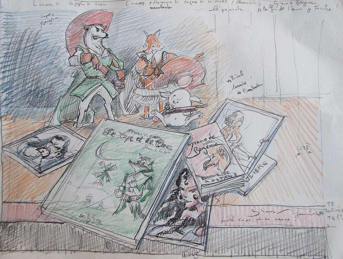 Dessin pour une nature morte BD De Cape et de Crocs Crayons 21X30  Bhavsar
