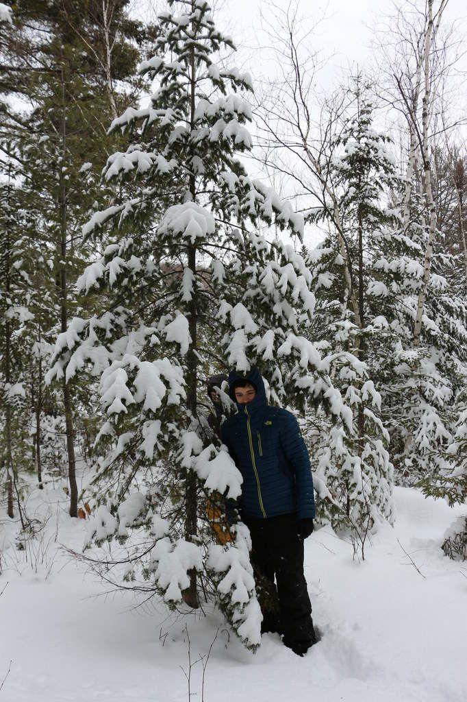 Notre jour de l'an 2015 au chalet sous la neige