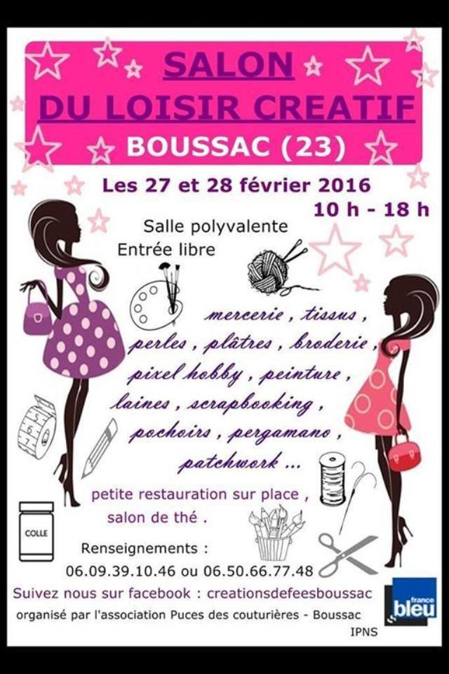 Salon du loisir créatif à Boussac (Creuse)