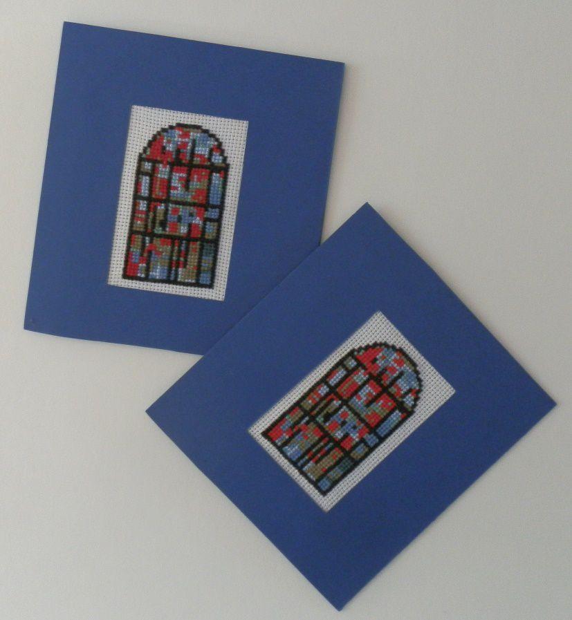 Aline de Sindères (Landes) vous propose de décliner le vitrail pour de jolies cartes ! Une bonne idée pour la fin d'année et les veoux.