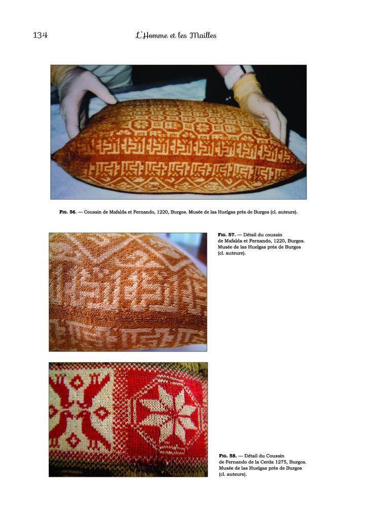 Des coussins tricotés du XIIe siècle !