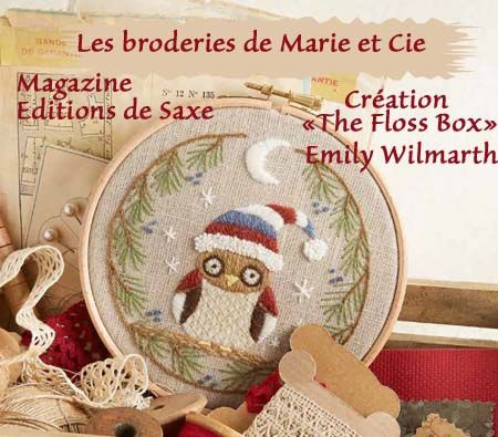 "Une créaytion ""The Floss Box"" d'Emily Wilmarth."