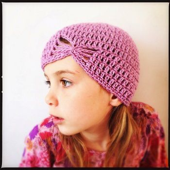 Bonnet au crochet fillette