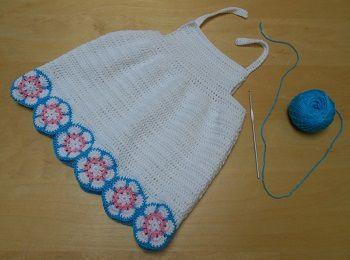 Tuto robe au crochet avec granny hexagonal african