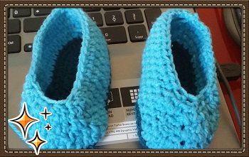 Petits chaussons au crochet