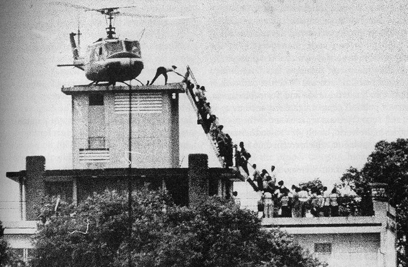 la fuite du personnel de l'ambassade des États-Unis à Saigon