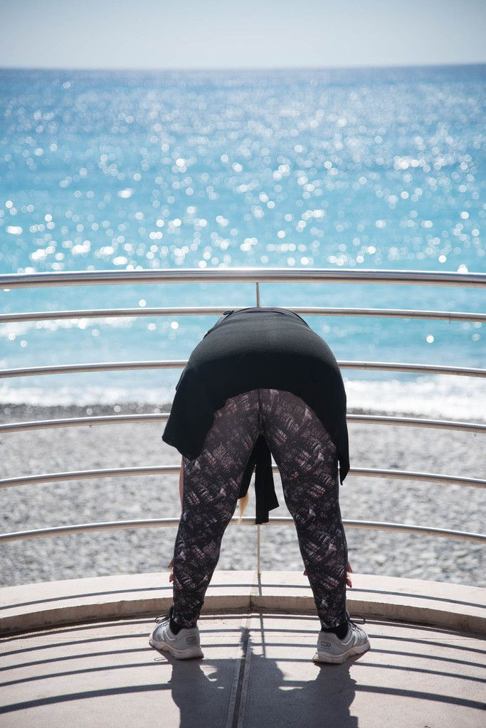 Gymnastique matinale sur la Promenade des Anglais
