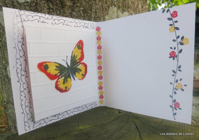 "Le papillon provient du set de tampon ""Watercolor wings"" p75"
