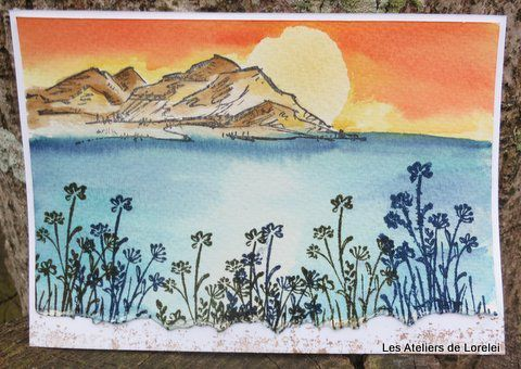 Carte en aquarelle