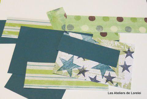 Atelier avec des chutes de papiers