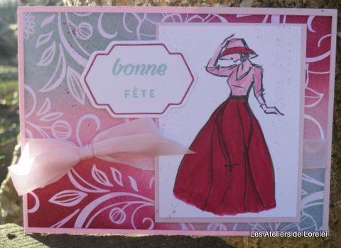 "Encre ""Rose rouge,petite pirouette,piscine party"""