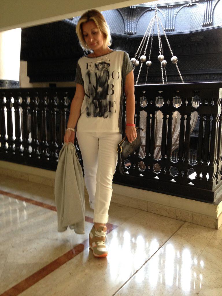 Look jean blanc