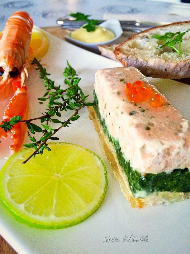 Terrine d'églefin et de saumon