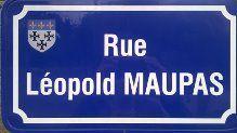 Rue Léopold MAUPAS à Moulins et place Léopold MAUPAS à Gannat