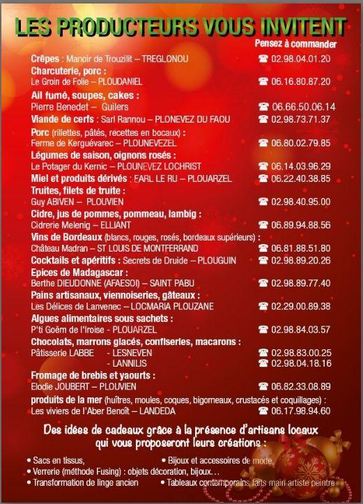 MARCHE DE NOEL  2015 TREGLONOU