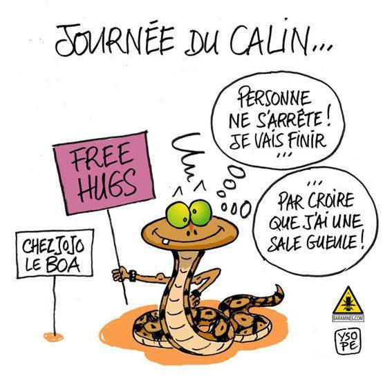 Journée du calin, free hugs...
