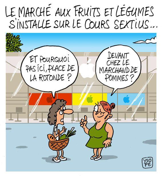 Le marché des primeurs d'Aix déplacé cours Sextius