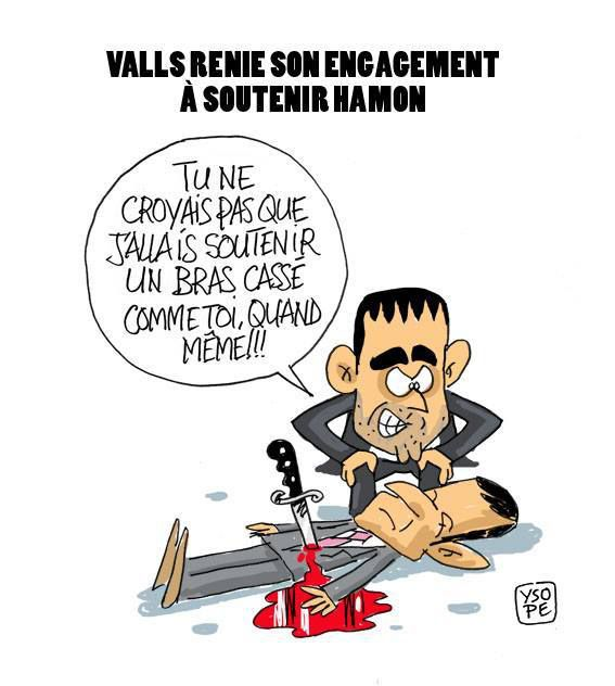 Valls renie son engagement à soutenir Hamon...