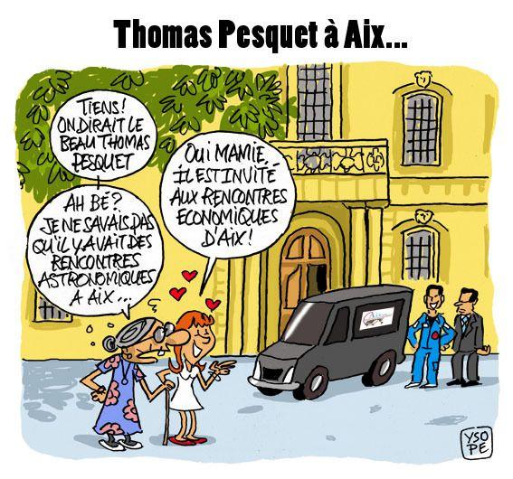 Thomas Pesquet invité des rencontres économiques d'Aix...