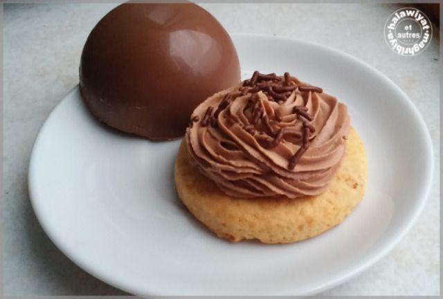 coque en chocolat et sa ganache sur sablé