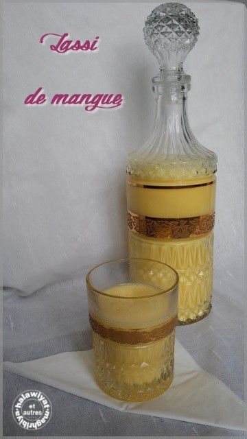 lassi ou smoothie de mangue