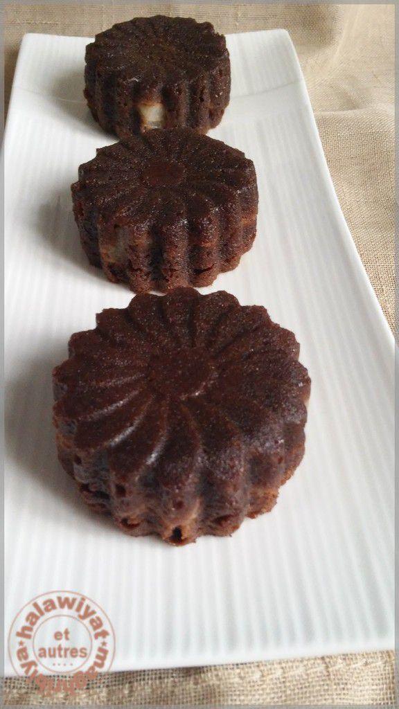 mini fondants aux poires et chocolat