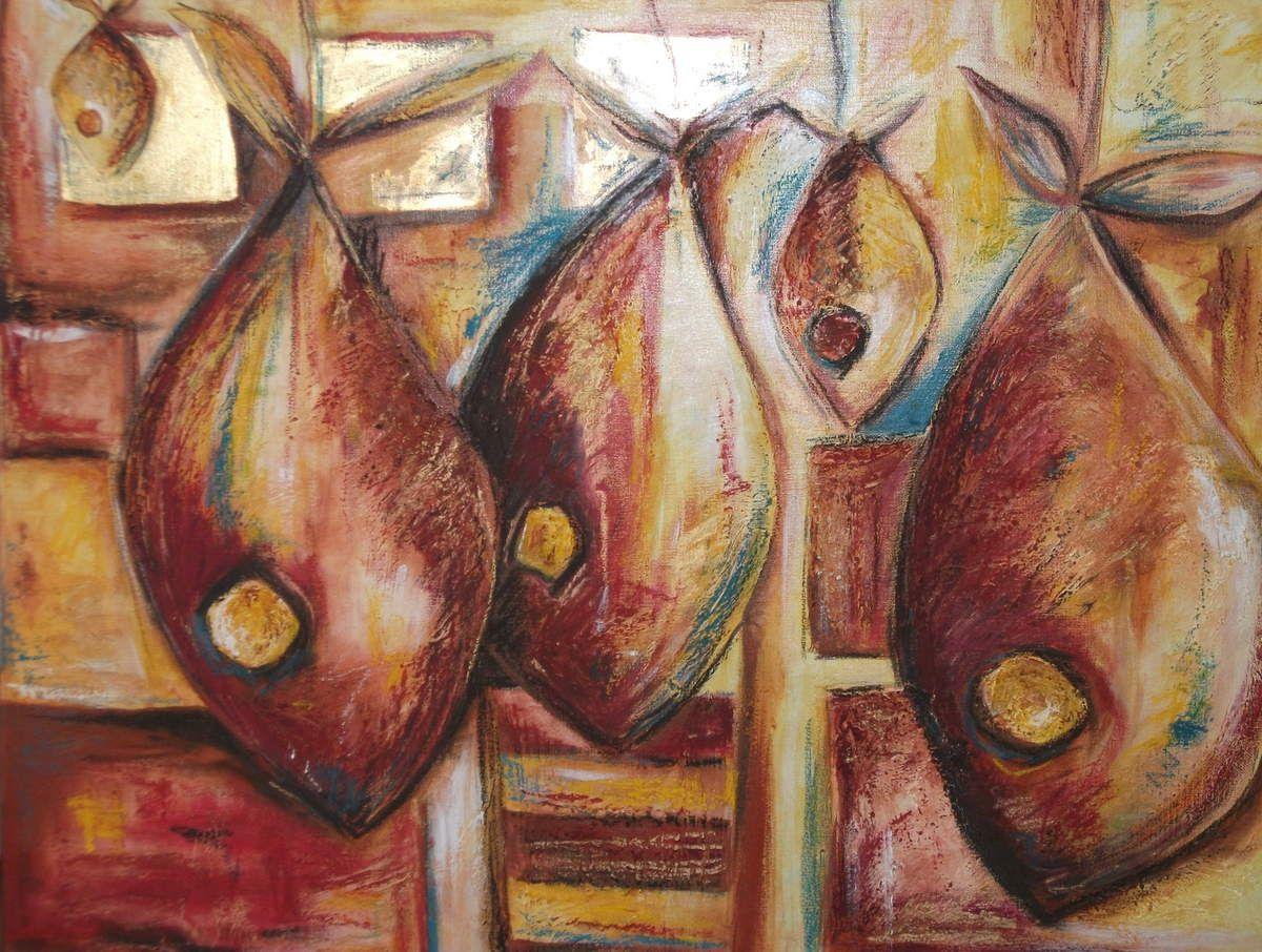 Toile env. 50 x 70 cm. Techniques mixtes.