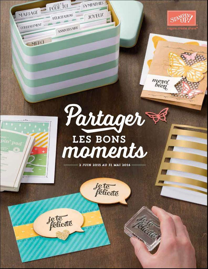 Catalogue annuel Stampin'Up 2015/2016