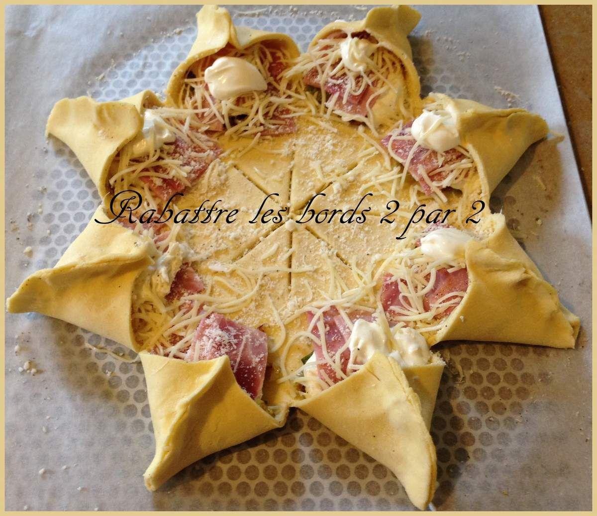 Etoile feuilletée et pizza étoilée