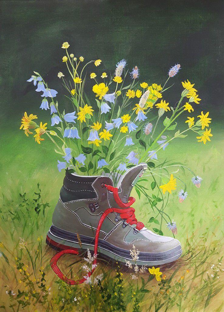 Peint à l'acrylique d'après une photographie par Ginette