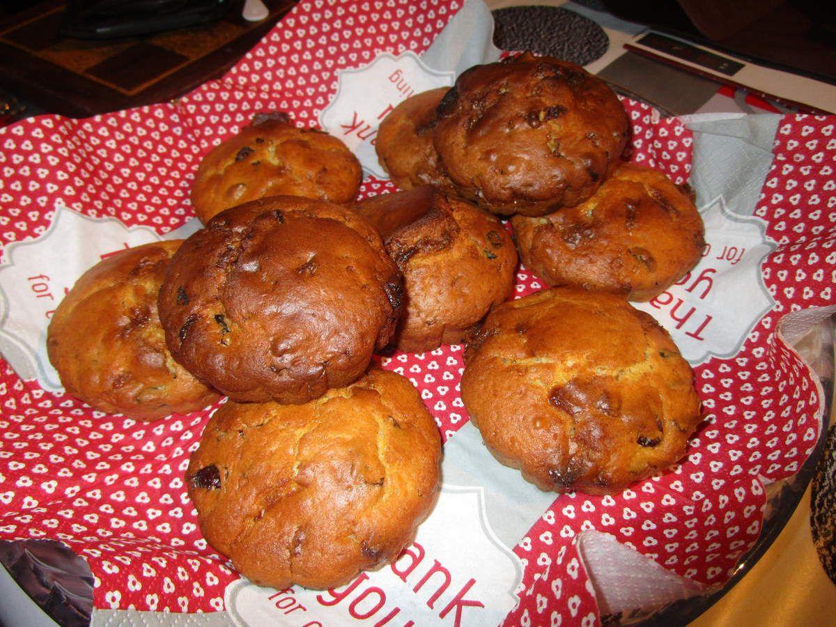 Muffin comme un scone chocolat blanc et cranberry