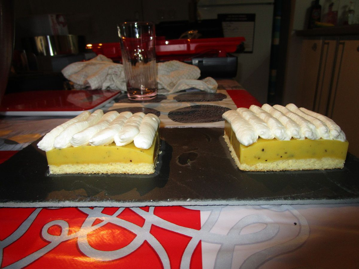 Mini entremets mangue passion