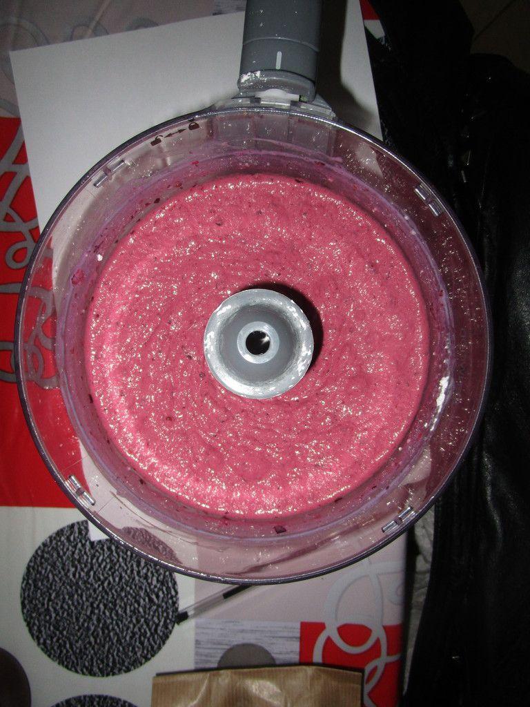 Glace aux fruits rouges sans sorbetière