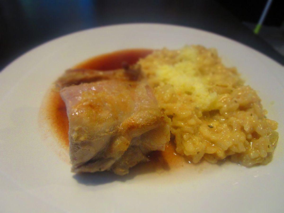 Filet mignon sauce porto et risotto au Beaufort