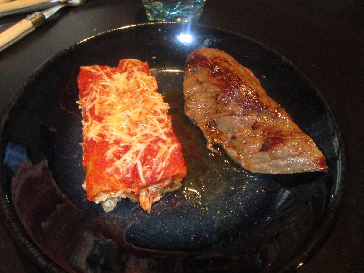 Cannelloni ricotta, basilic et tomates séchées