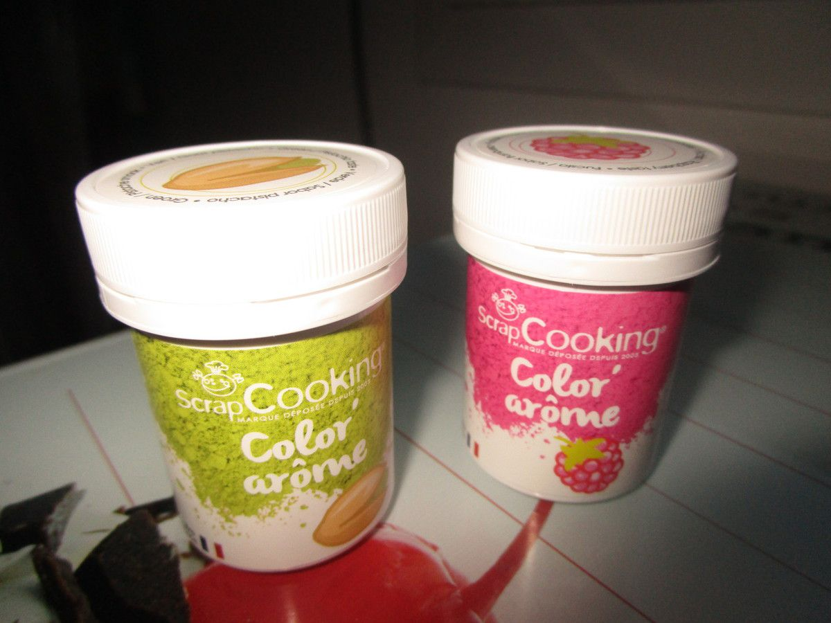 Cake pistache framboise avec ScrapCooking®