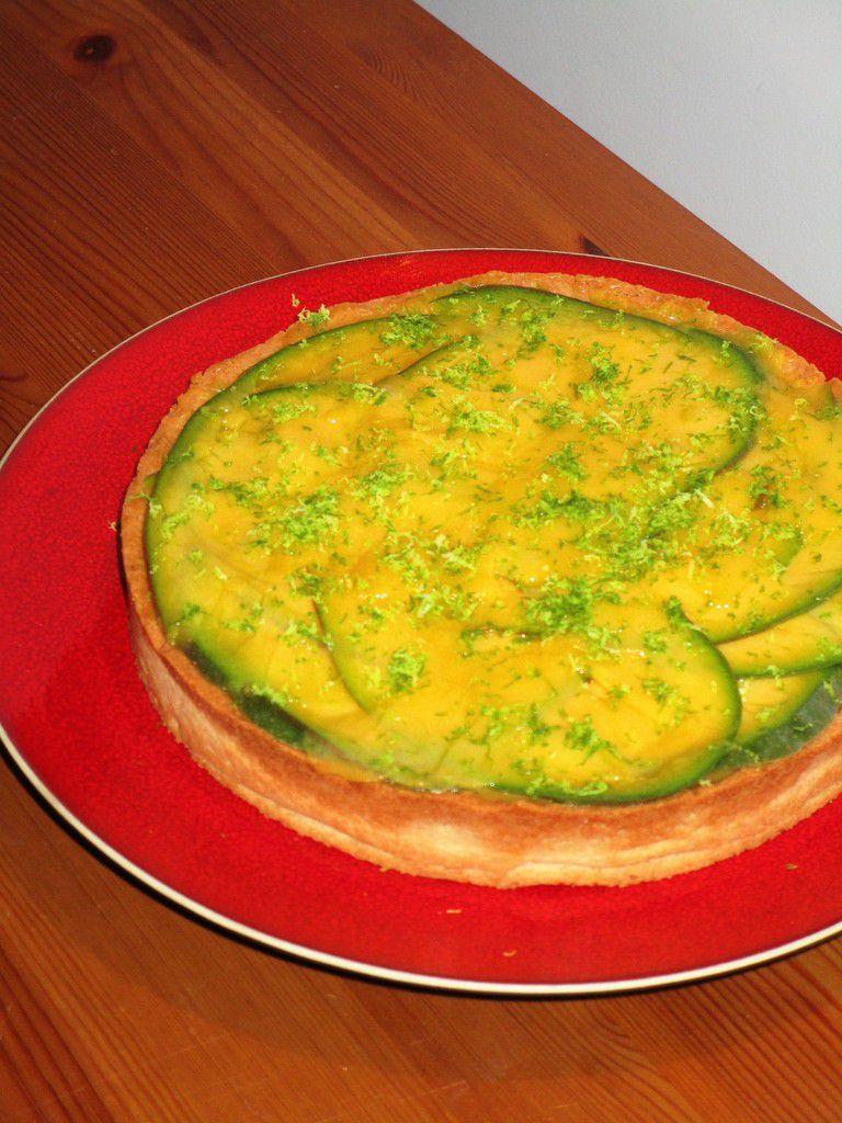 Tarte passion mangue et citron vert