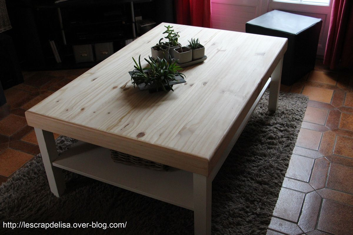 Table basse relook e le scrap d 39 elisa for Table qui s agrandit ikea