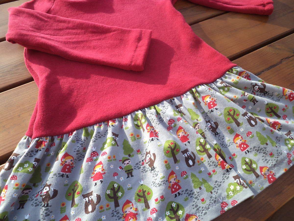 Maille merveilleuse Mamzelle fourmi, jersey Chaperon rouge Rijs Textiles