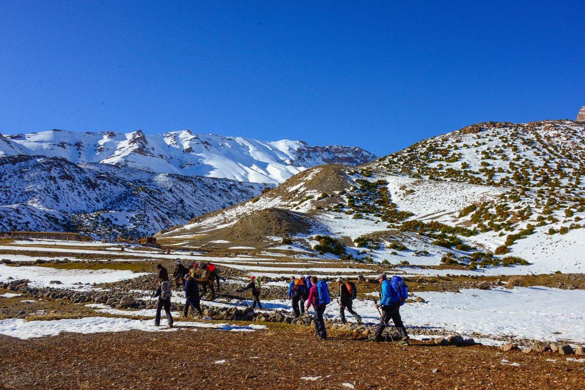 Maroc - ski de randonnée au M'Goun