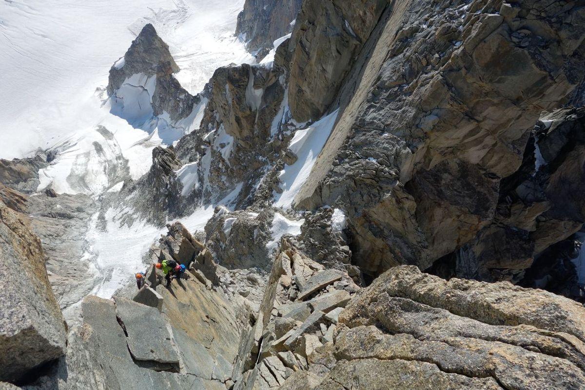 Aiguille du Diable au Mont Blanc du Tacul