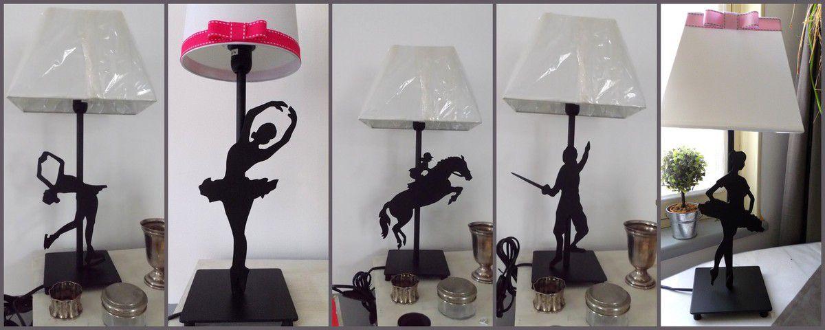 lampes 35 cm/ 35 euros abat-jours compris